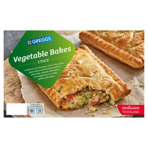 Greggs 2 Vegetable or Corned Beef Bakes - £1 @ Iceland