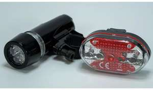 Challenge 2 Piece Front And Rear LED Bike Light Set £2.99 (Free click and collect) at Argos