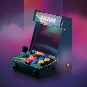 """10"""" Picade retro gaming arcade machine - includes screen, excludes raspberry pi £180.50 + £2.50 delivery with code at Pimoroni"""