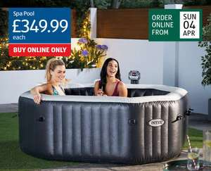 Intex luxurious spa pool for 4 adults £349.99 + £9.95 delivery at Aldi – available 4 April