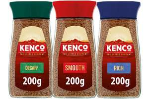 KENCO 200g RICH , SMOOTH, DECAF. ANY 3 FOR £10 @ FARMFOODS
