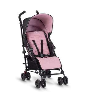 Silver Cross Zest Stroller, Compact and Lightweight Fully Reclining Baby To Toddler Pushchair – Powder Pink £99.99 at Amazon