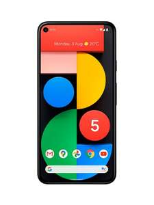 "Google Pixel 5 5G Smartphone, Android, 8GB RAM, 5.96"", 5G, SIM Free, 128GB, Just Black (Grade B) £395.99 at SMG"