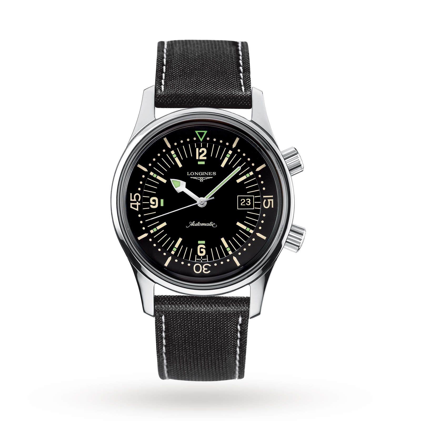 Longines Heritage Legend Diver Men's Watch L37744500 42mm £1246.50@ Goldsmiths