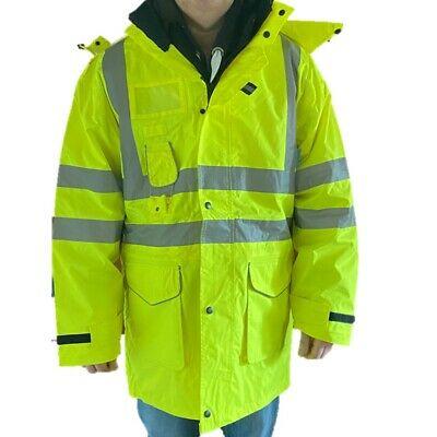 Aqua Hi-Vis Yellow Humber Outer Waterproof Jacket EN471 Detachable Hood £9.99 @ bigdealoutdoors Ebay