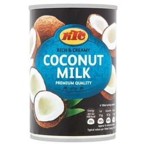 KTC Coconut Milk 400g 50p @ Morrisons