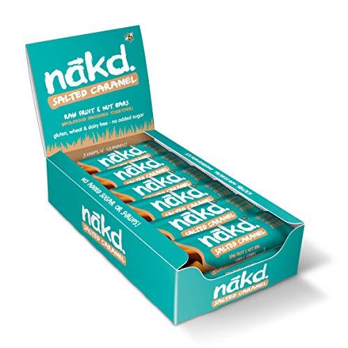 Nakd Salted Caramel Natural Snack Bars - Vegan Bars - Healthy Snack Gluten Free Bars 35 g (Pack of 18) £8.73 Amazon Prime (+4.49 Non Prime)