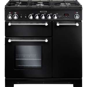 Rangemaster Kitchener Dual Fuel Range Cooker - KCH90DFFBL/C - Black and Chrome £899.10 delivered with code @ Currys PC World