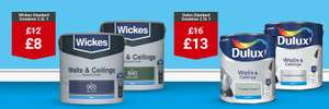 Dulux Standard Emulsion 2.5L was £16 now £13 - Free Click and Collect @ Wickes