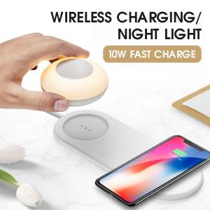 LaoPao 10W QI Wireless Charger USB Fast Charge LED Desk Lamp night light for £15.05 delivered @ AliExpress / LAOPAO Official