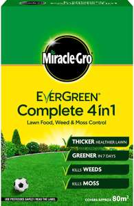 Miracle-Gro EverGreen Complete 4in1 2.8kg - 80m2 (7kg for £12 and 17.5kg for £26)- £5.97 Prime / £4.49 Non Prime @ Amazon