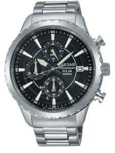 Pulsar SOLAR POWERED Chronograph watch on stainless steel strap for just £69.99 at Rubicon Watches