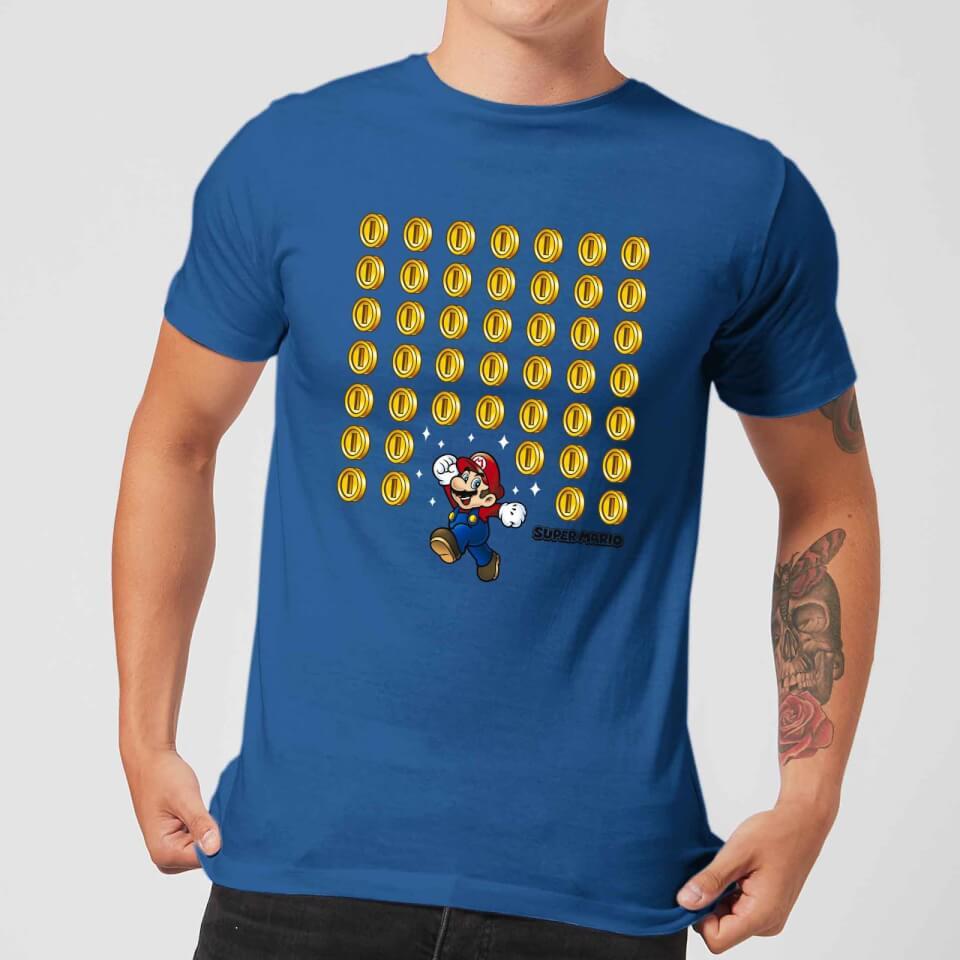 Nintendo Super Mario Coin Drop Men's Blue T-Shirt - £14.99 (+£1.99 Delivery) @ Zavvi