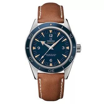Omega Seamaster 300 on Brown Leather Strap - £4,500 at Ernest Jones