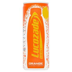 X 4 Lucozade Energy Orange 250ml cans 4 for £1.00 instore @ Farmfoods Middlesbrough