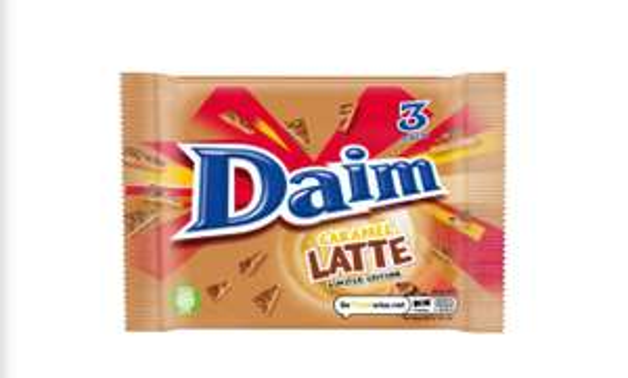 Daim Caramel Latte Bar 3 Pack 84g £1 @ Iceland
