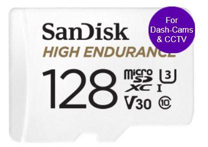 10% off with code eg128GB Sandisk High Endurance 16.38/New Sandisk Ultra 256GB £27.09/400GB £39.59/128GB £13.59/Lexar 512GB £55.16 @ PicStop