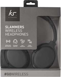 KitSound Slammer bluetooth Headphones with Built-In Microphone - grade A - as new with 1yr warranty - only £6.00 delivered with code at SMG