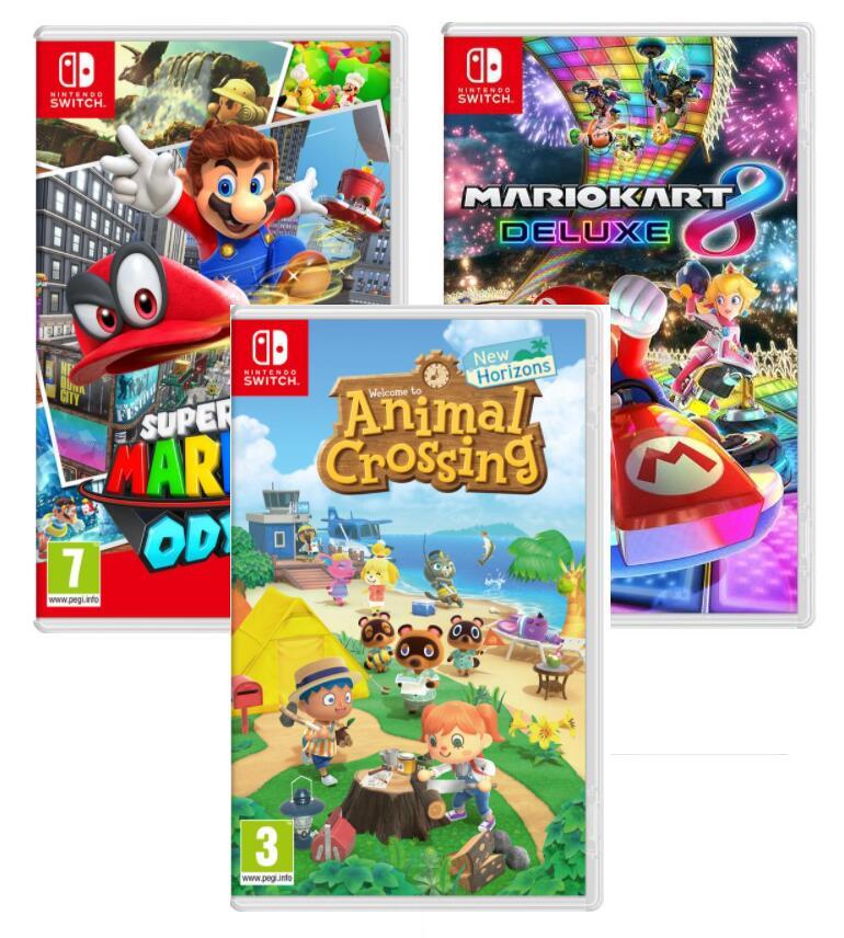 Nintendo Switch Animal Crossing: New Horizons// Super Mario Odyssey / Mario Kart 8 Deluxe - £31.99 each using code @ Currys PC World