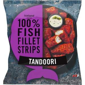 Iceland Made with 100% Fish Fillet Strips Tandoori 450g - £1.50 @ Iceland