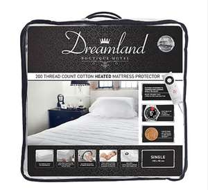Dreamland 200 Thread Count Heated Mattress Protector from £17.25 for single - Free Click & Collect / Selected Stores @ Dunelm