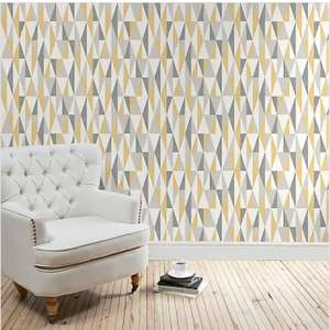 Triangle Ochre Wallpaper W 52cm x L 10.05m - £7.50 - C&C only @ Dunelm (Limited Stores)