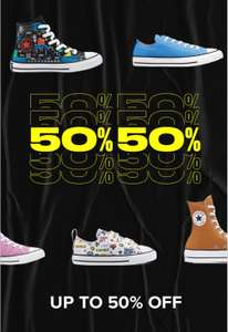 Converse Trainers Up to 50% off sale & extra 15% off code + Free delivery with £50 spend (otherwise £5.50) @ Converse