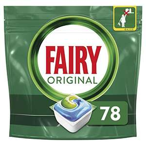 Fairy All-in-One Dishwasher Tablets 78 - £8.75 (+£4.49 Non Prime) / £8.31 S&S @ Amazon