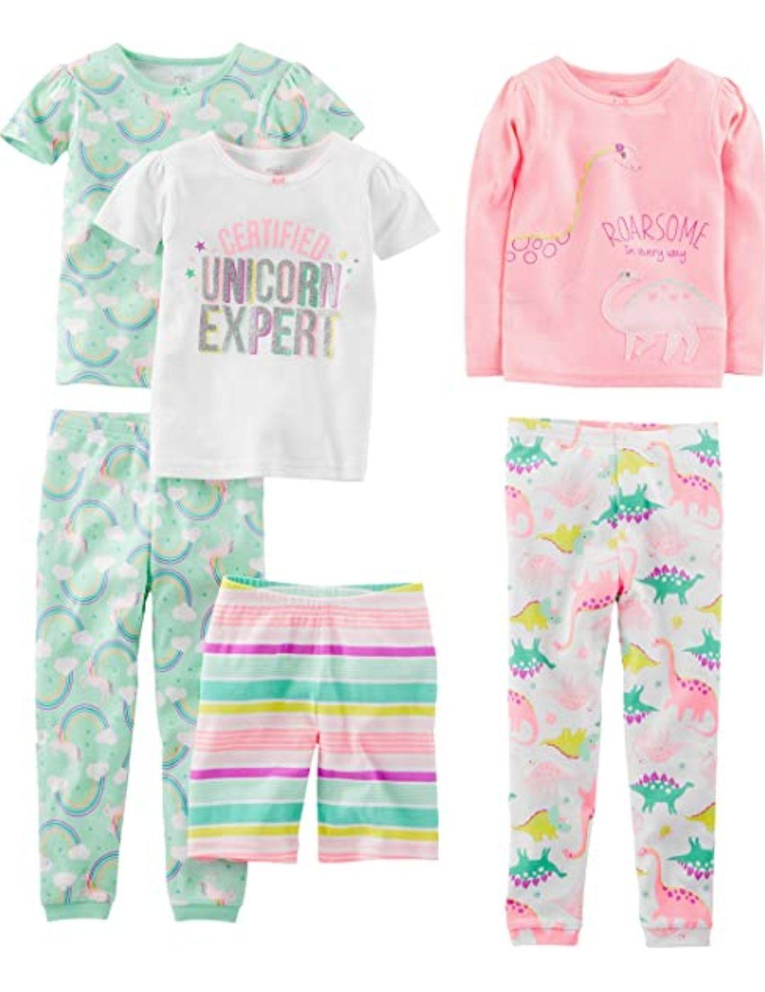 Baby girl's 6 piece pyjamas set 18 months now £10.05 (+£4.49 Non Prime) at Amazon