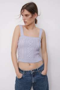 Cable Knit Crop Top - £9.99 + £3.95 Delivery @ Zara