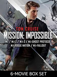 Amazon prime digital 6 x Mission Impossible Movies HD (Including Fallout) - £19.99