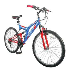 Challenge Orbit 26Inch Wheel Size dual suspension Mountain Bike - Red and Blue - £99.99 + free Click & Collect @ Argos