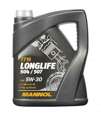 Mannol 5L Fully Synthetic Engine Oil Longlife 3 5w30 LL-04 AUDI VW 504/507 C3 £18.27 @ ebay / lubriagecarpartsaccessories