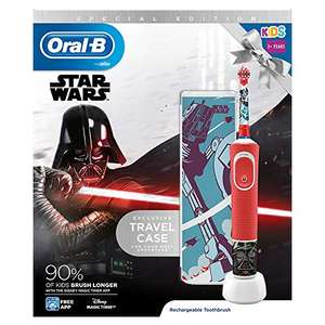 Oral-B Kids Star Wars Electric Toothbrush Rechargeable Powered By Braun £10 (+£4.49 Non Prime) at Amazon