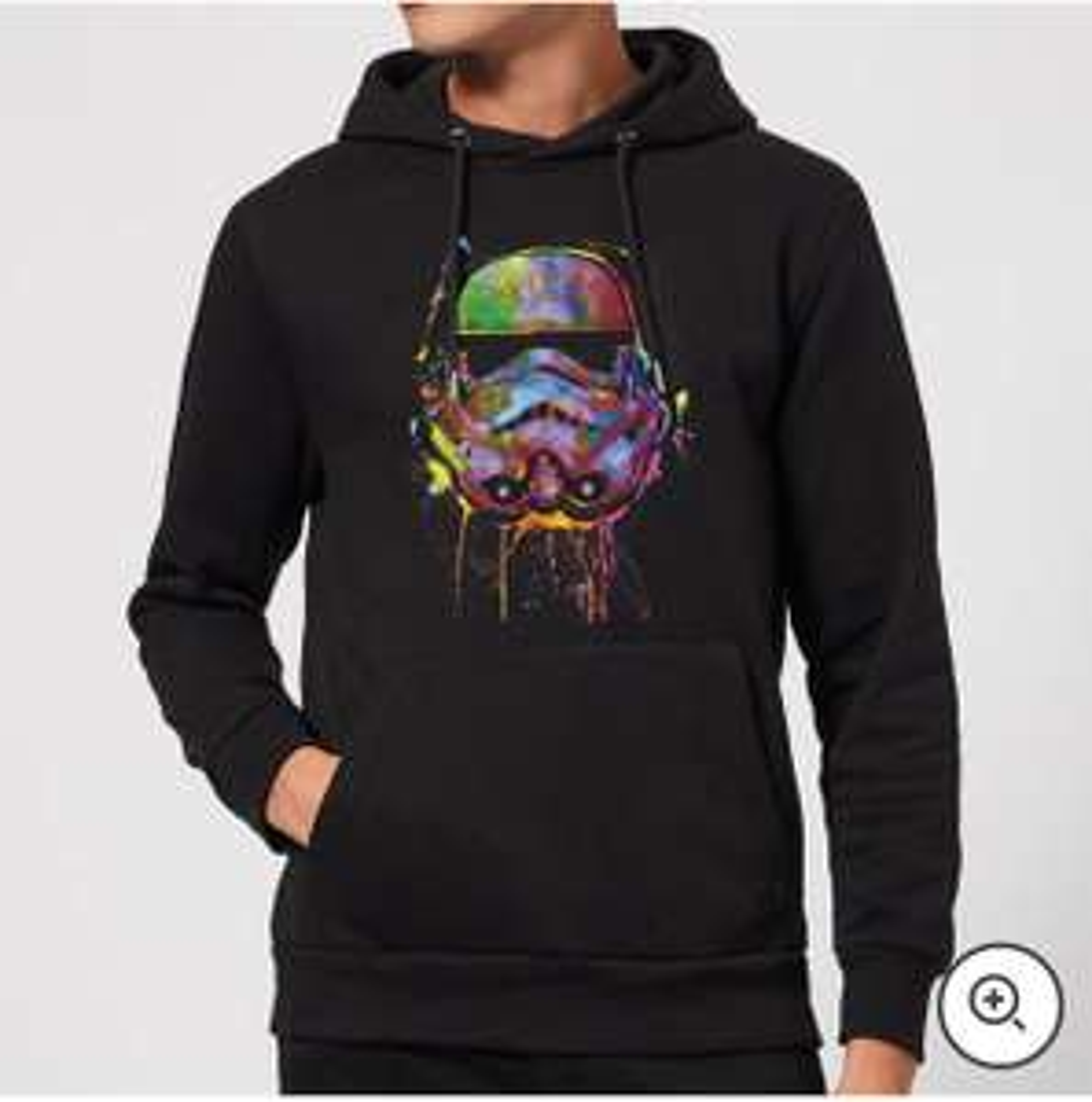 Star Wars Paint Splat Stormtrooper Pullover Hoodie - Black - £14.99 (+£1.99 Delivery) @ Zavvi