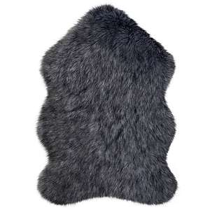 Luxury Single Pelt Faux Fur Rug Charcoal/Butterscotch/Teal/pink - £4.50 (+ Free Click & Collect / Selected Stores) @ Dunelm