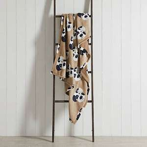 Dalmatian Print Fleece Natural (130cm x 170cm) Throw - £1.50 (Free Collection in Limited Areas i.e London) @ Dunelm