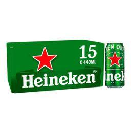 Heineken Premium Lager Beer Cans 15x440ml £10.97 @ Asda