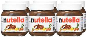 Nutella Hazelnut Chocolate Spread, 400 g (pack of 6 Bottles) for £9.66 (add £4.49 for non-prime member)
