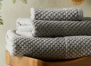 Popcorn Textured 100% Cotton Silver Bath Towel £3.50 (Free Click & Collect / Selected Stores) at Dunelm