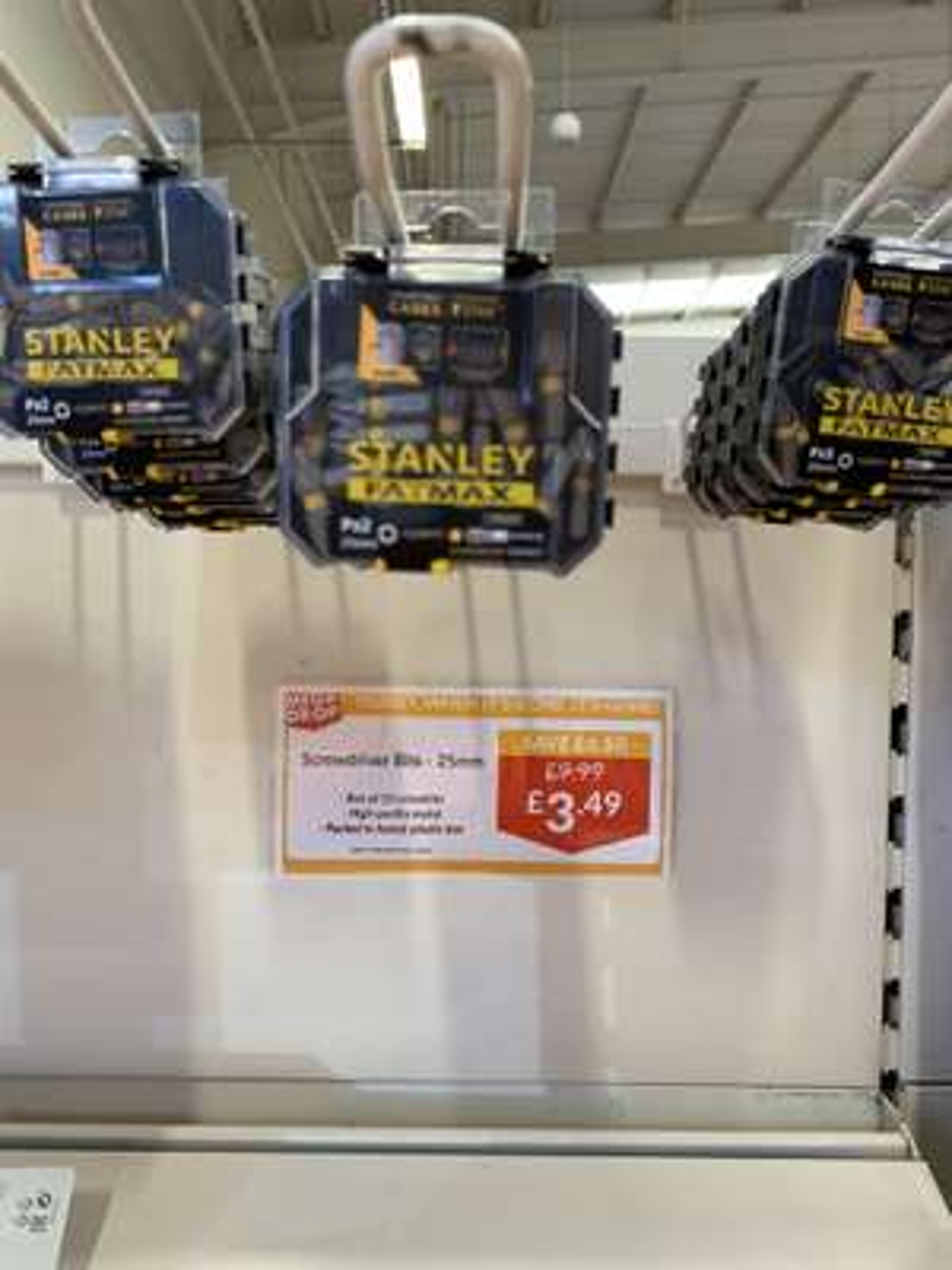 Stanley fatmax screw bits 25mm x 20 - £3.49 @ The Range Glasgow
