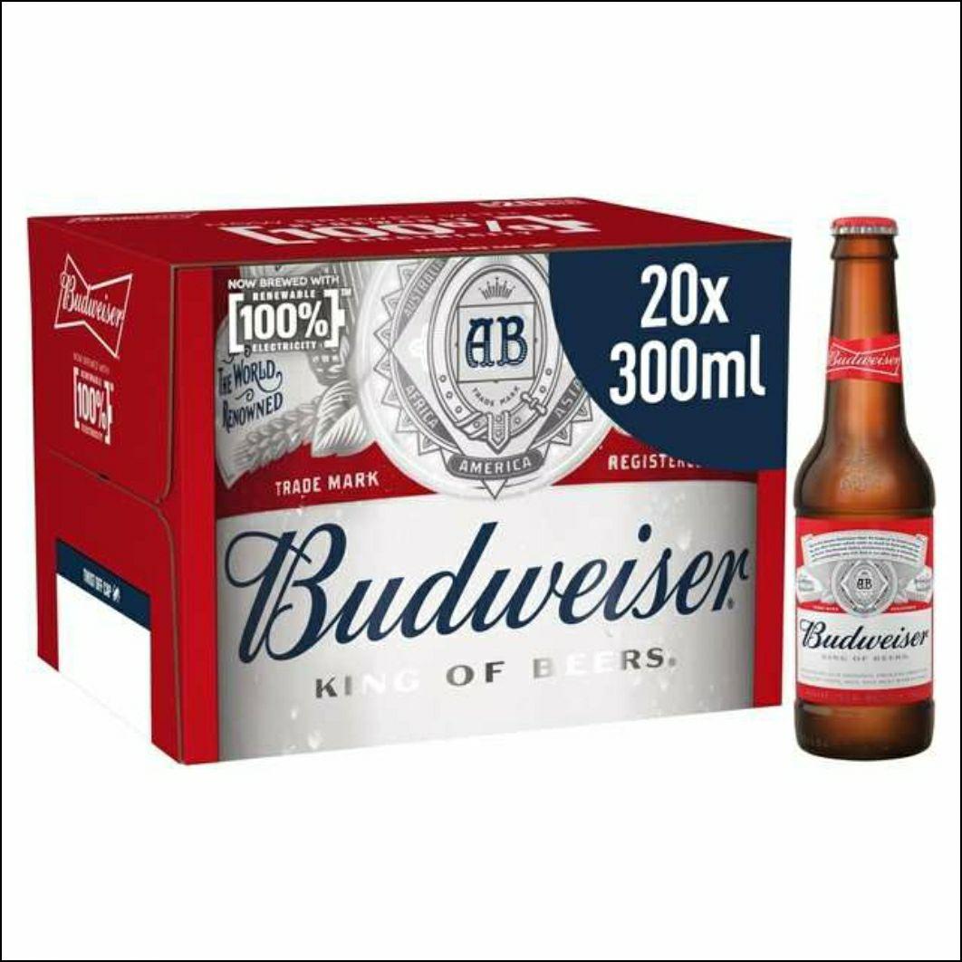 Budweiser 20x300ml 6000ml £9.99 at Aldi