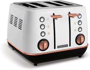 Morphy Richards Evoke 4 Slice Toaster Special Edition 240115 White and Rose Gold Four Slice Toaster - £29.27 delivered @ Amazon