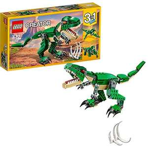 LEGO 31058 Creator Mighty Dinosaurs Toy, 3 in 1 Model, Triceratops and Pterodactyl Dinosaur Figures £9.09 (+£4.49 non-prime) @ Amazon