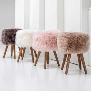 Royal Dream Sheepskin Stool (4 Colours) & Large Rug (2 Colours ) £59.99 & £36.99 Delivered @IWOOT