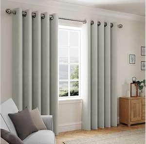 Hudson Grey Eyelet Curtains from £7 (Free Collection / Selected Location) @ Dunelm