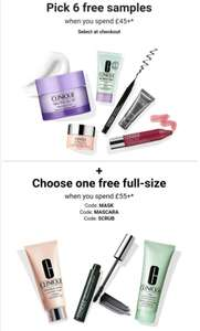 Get 6 Free Samples & 1 Full size product with £55 spend Free delivery @ Clinique