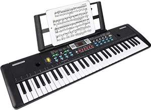 WOSTOO Electronic Keyboard Piano 61 Key, with Microphone,Music Stand, Power Supply £29.07 Used: Like New @ Amazon Warehouse