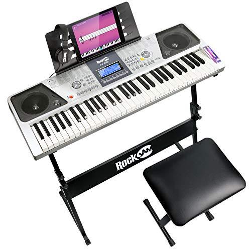 RockJam RJ661-SK 61 Keyboard Piano Kit 61 Key Digital Piano Keyboard Bench /Stand Headphones £62.16 used Very Good @ amazon warehouse