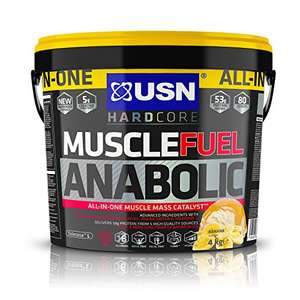 USN Muscle Fuel Anabolic Banana Protein Shake 4KG £25.53 (10% off first S&S @ £22.34) at Amazon